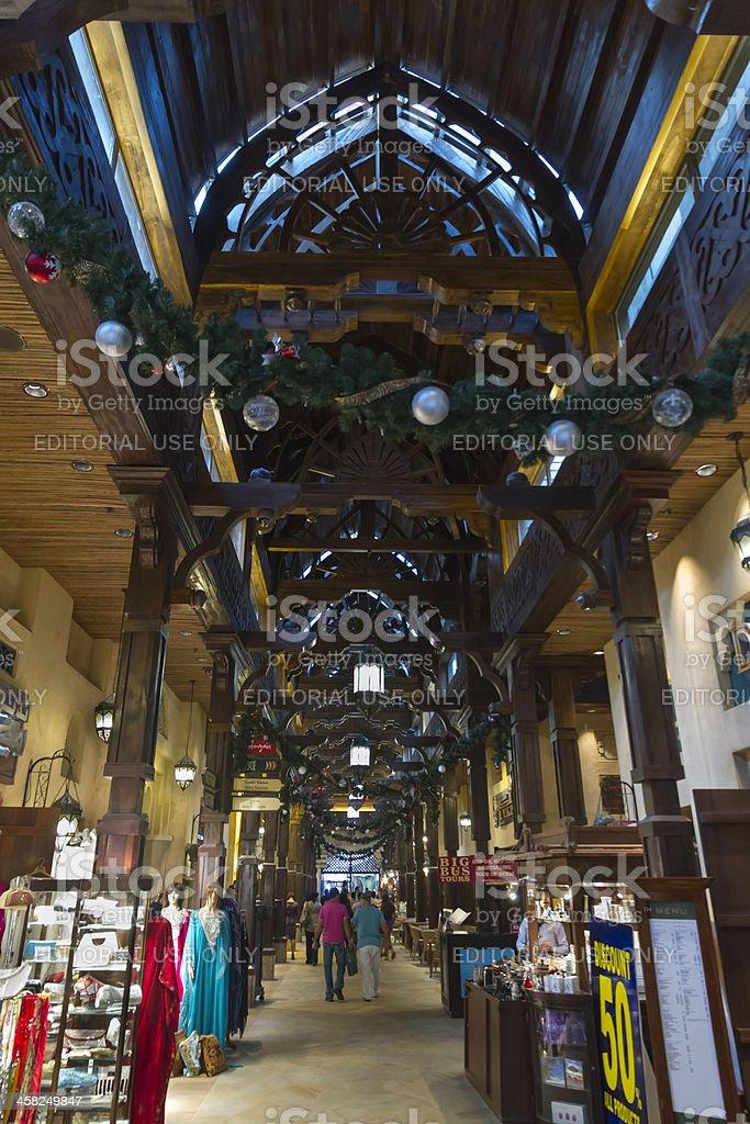 Dubai - internal view of Madinat Souk royalty-free stock photo