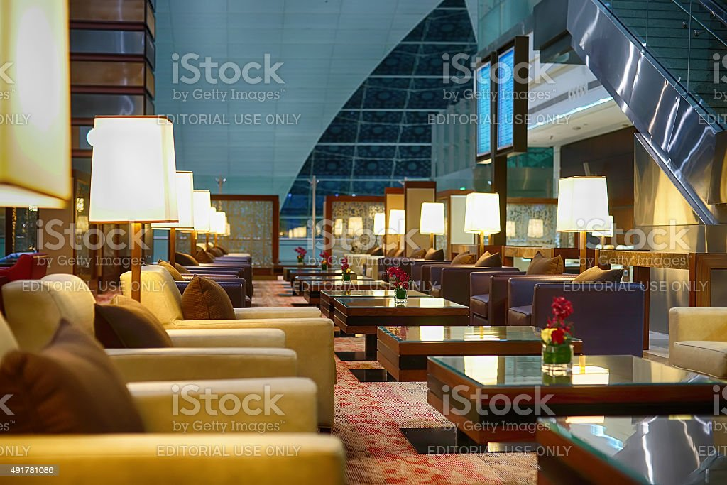 Dubai International Airport interior stock photo