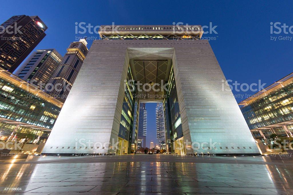 Dubai International Financial Centre stock photo