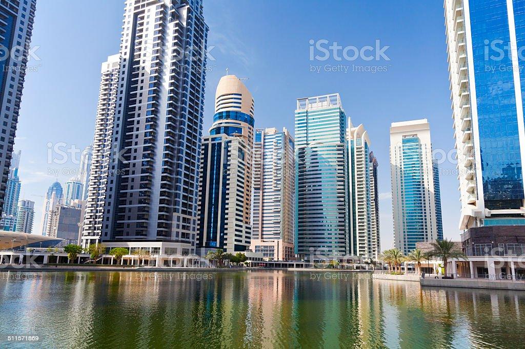 Dubai Jumeirah Lake Towers stock photo