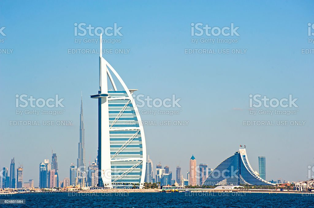 Dubai landmarks stock photo
