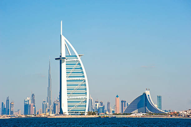 dubai landmarks - jumeirah stock-fotos und bilder