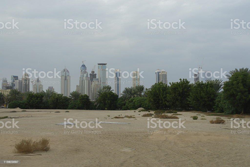 Dubai landscape royalty-free stock photo