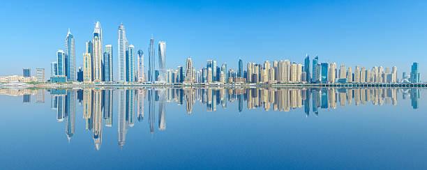 Dubai Marina and JBR Skyline - Stock image stock photo