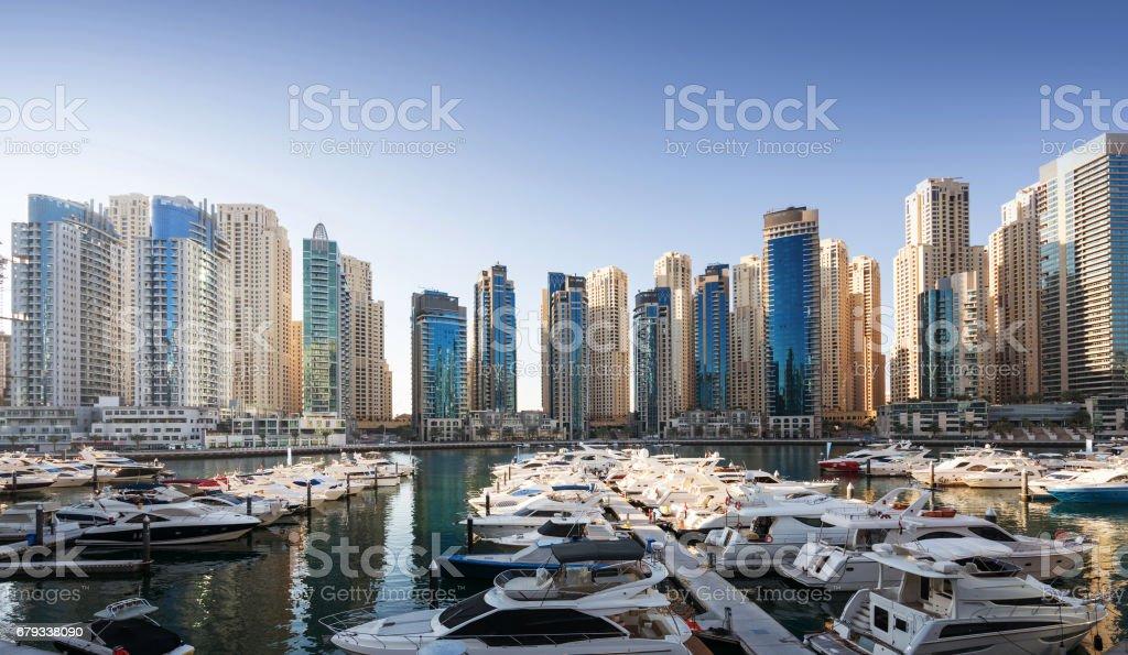 Dubai Marina at sunset, United Arab Emirates royalty-free stock photo