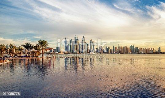 istock Dubai Marina at sunset United Arab Emirates 914059776