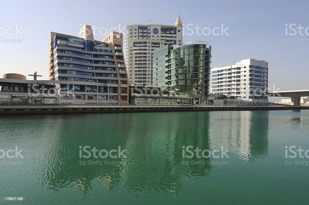 Dubai Marina Buildings royalty-free stock photo