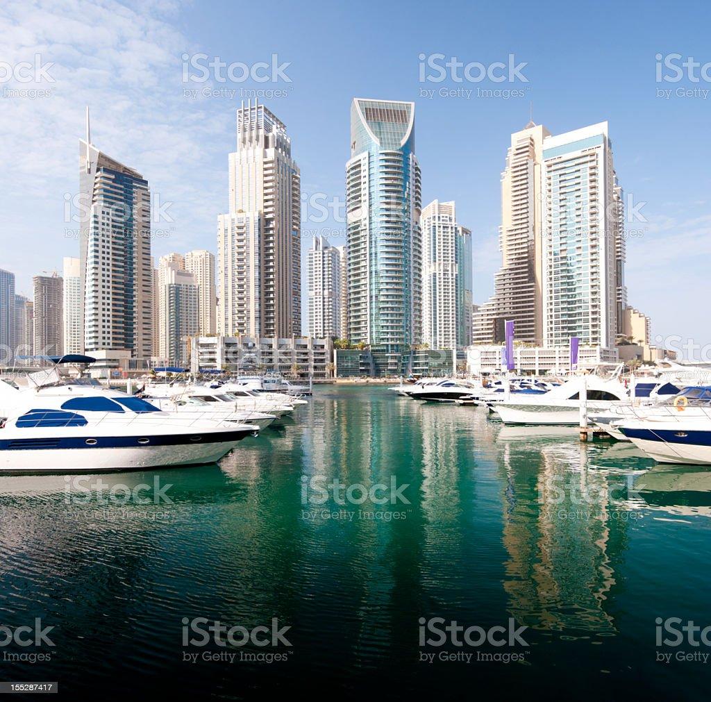 Dubai Marina City Skyline in the United Arab Emirates royalty-free stock photo