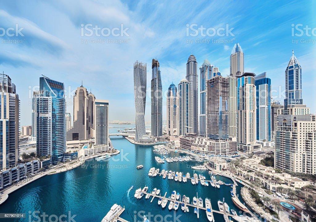 Dubai Marina-Skyline der Stadt in den Vereinigten Arabischen Emiraten – Foto