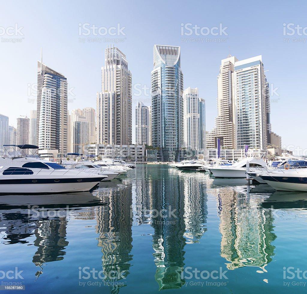 Dubai Marina City Skyline United Arab Emirates stock photo