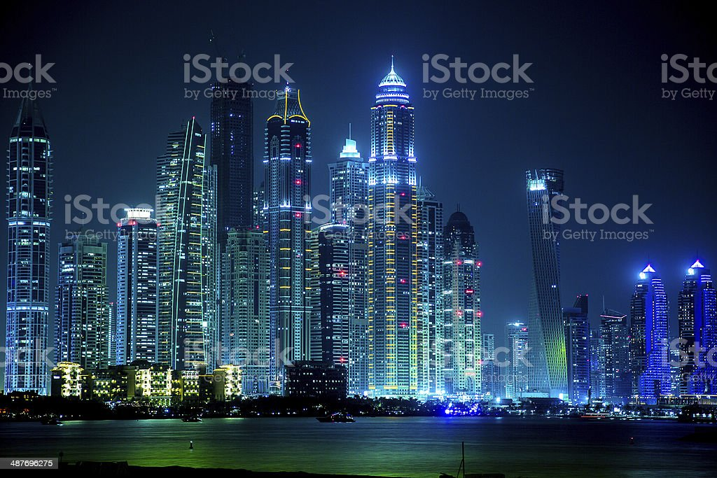Dubai Marina cityscape, UAE stock photo