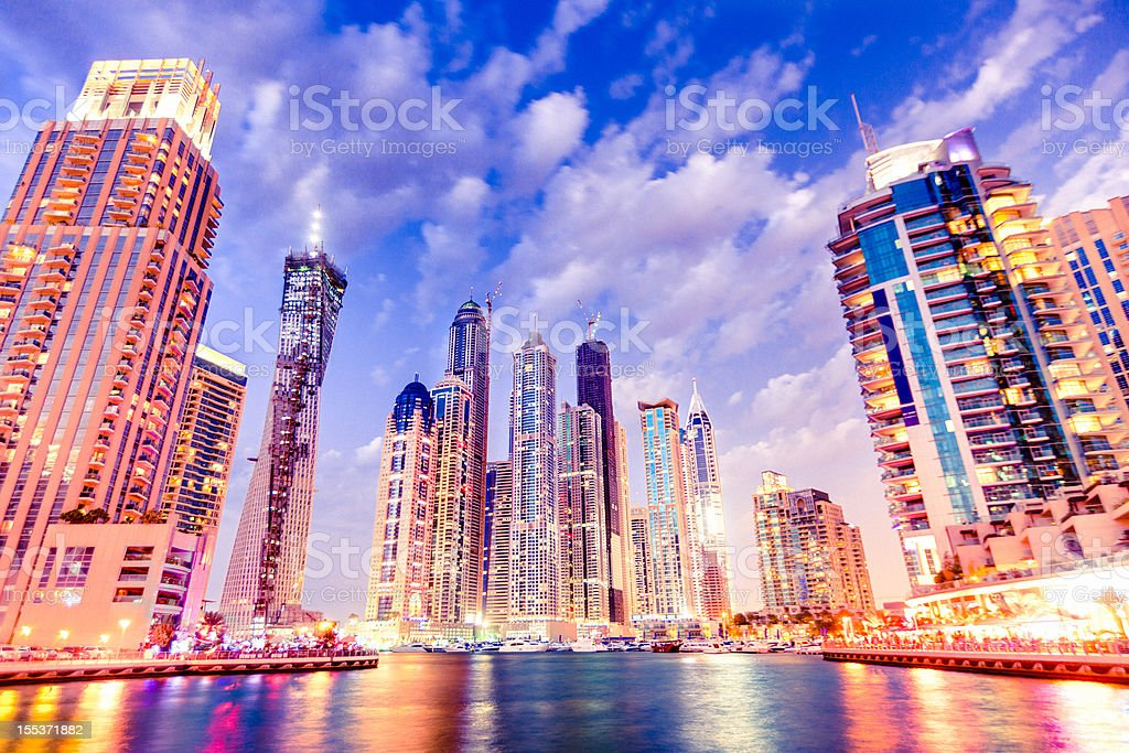 Dubai Marina downtown royalty-free stock photo
