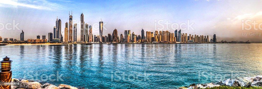 Dubai marina HDR skyline stock photo