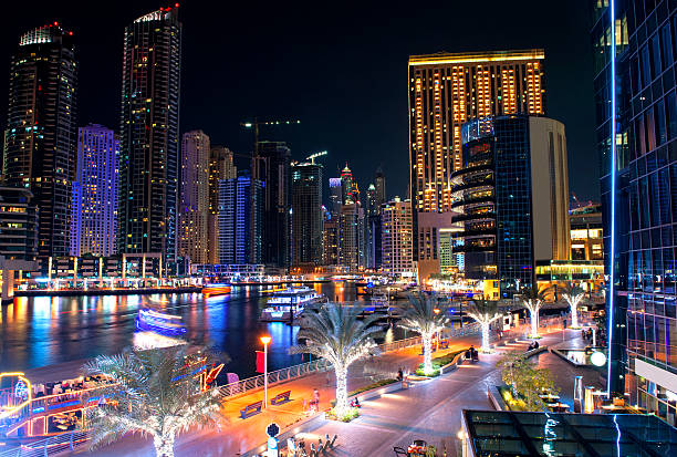 Dubai marina in the night – Foto