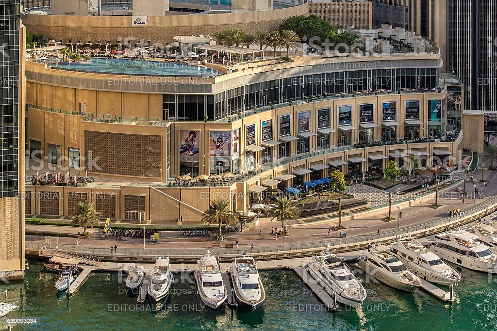 Dubai marina Mall stock photo