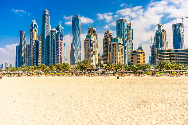 dubai marina. - jumeirah stock-fotos und bilder