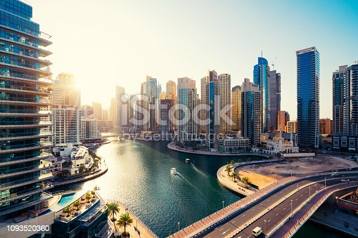 istock Dubai Marina Skyline and Modern Skyscrapers at Dawn 1093520360