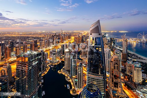 Dubai, Cityscape, Street, Sheikh Zayed Road, Highway