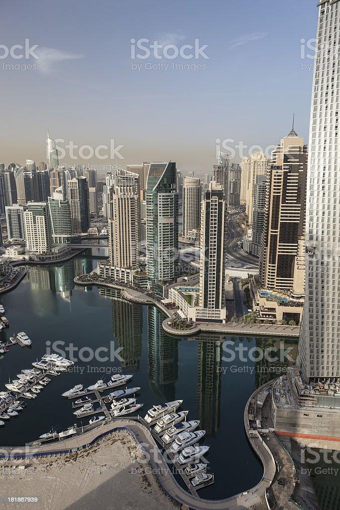 Dubai marina skyline on early morning royalty-free stock photo