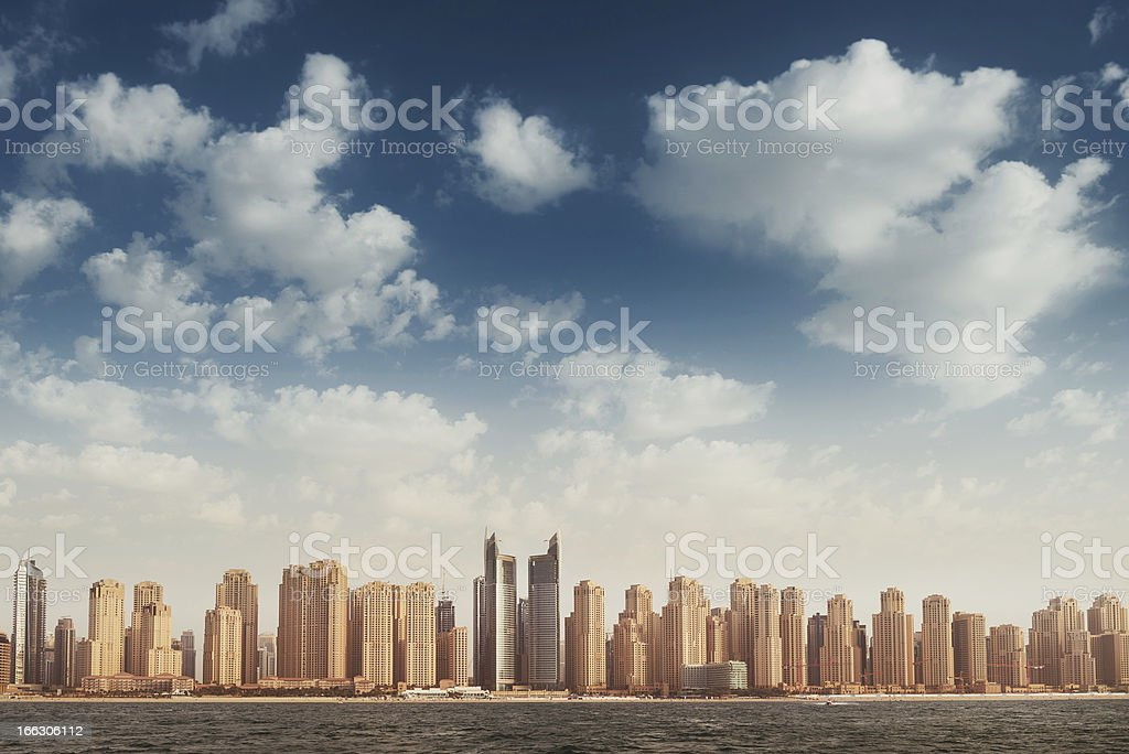 Dubai Marina Skyline royalty-free stock photo