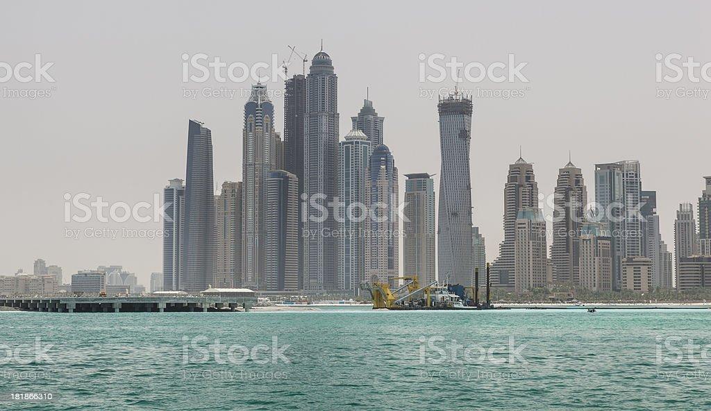 Dubai marina skyline royalty-free stock photo