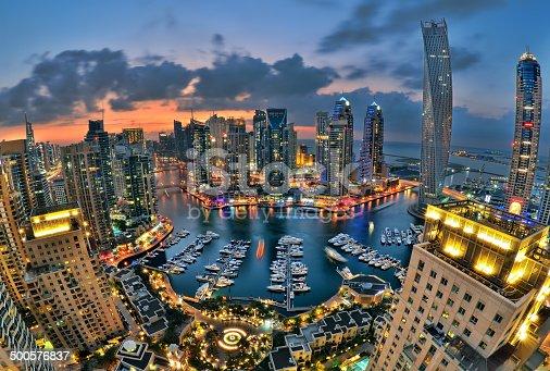 istock Dubai Marina skyline 500576837