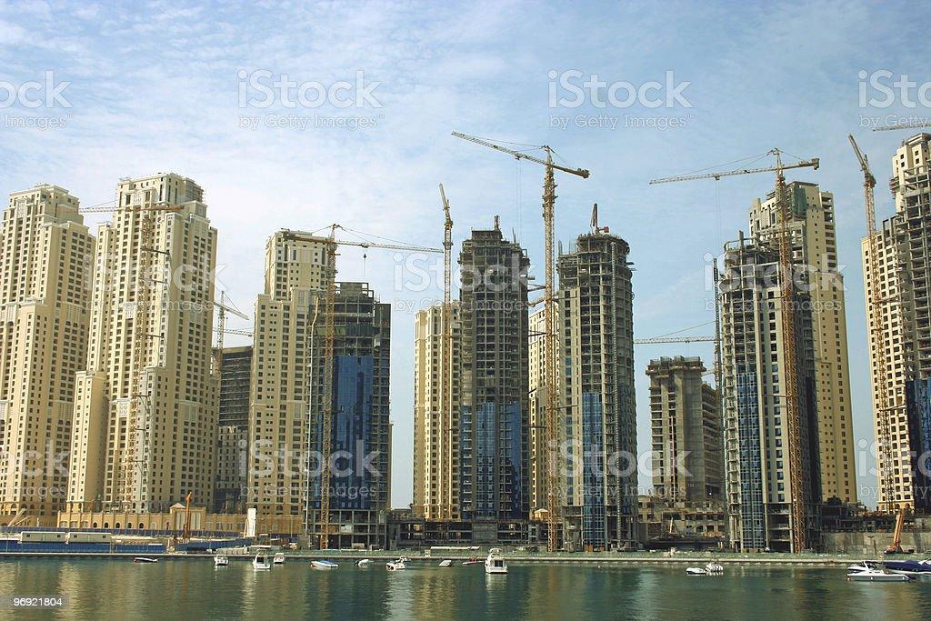 Dubai Marina skyscapers royalty-free stock photo