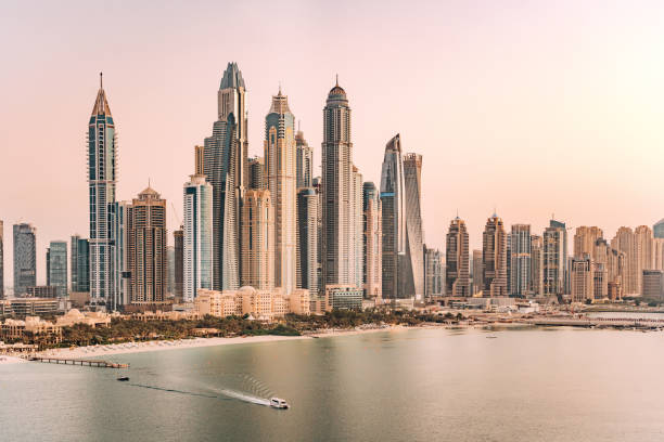 Dubai Marina Skyscraper Dubai Marina Skyscraper dubai stock pictures, royalty-free photos & images