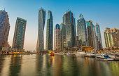 Dubai Marina sunset, United Arab Emirates