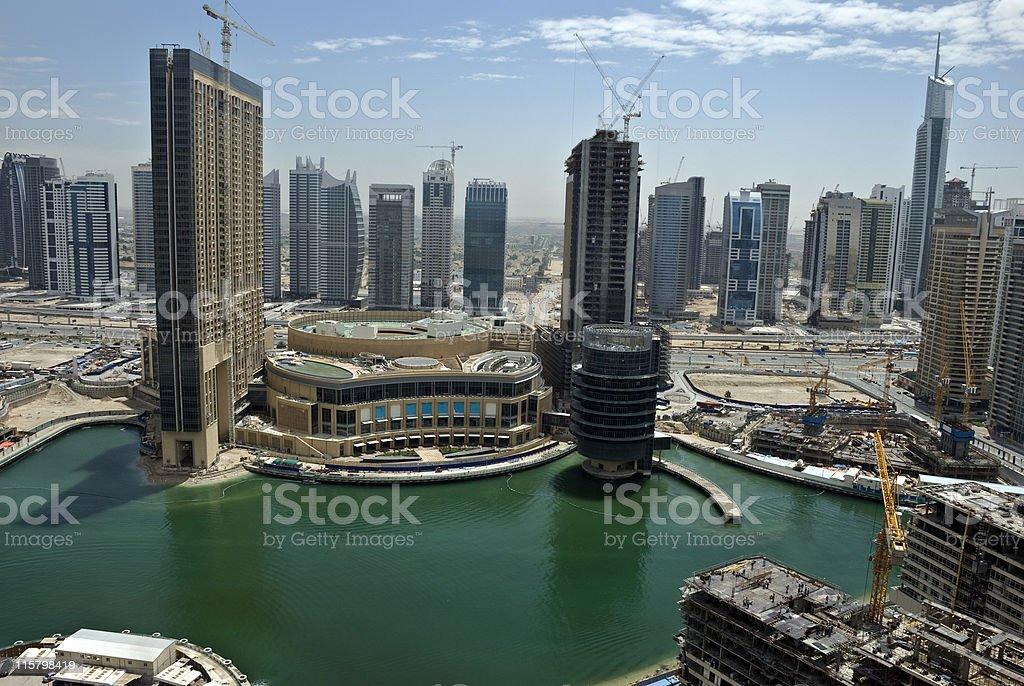 Dubai Marina under construction, United Arab Emirates royalty-free stock photo