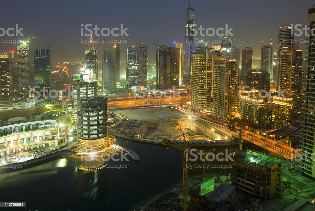 Dubai Marina, United Arab Emirates royalty-free stock photo