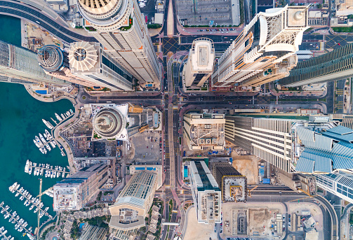 Städtischen Skyline Von Dubai Marina Stockfoto und mehr Bilder von Ansicht von oben