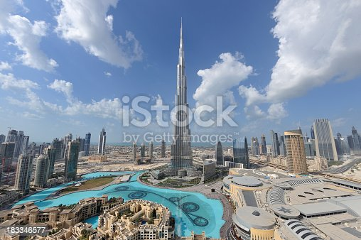 Dubai continue to attract millions of visitors every year to admire the wonder of the city and mega shopping malls.  This view is no longer possible as it was taken from the Address Hotel.