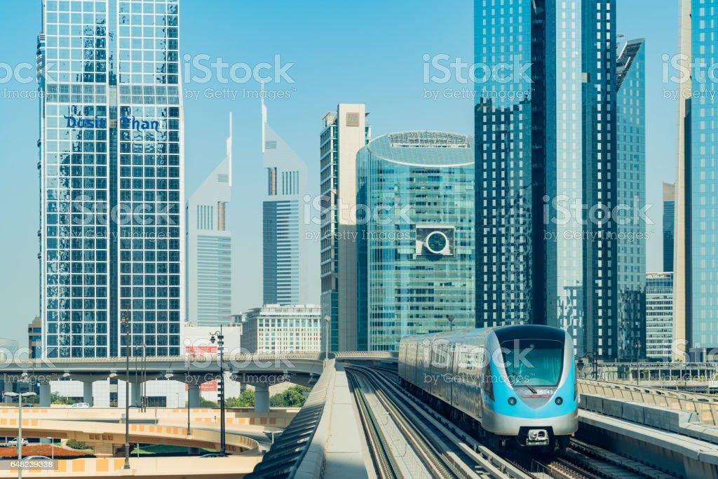 Dubais tunnelbana bildbanksfoto
