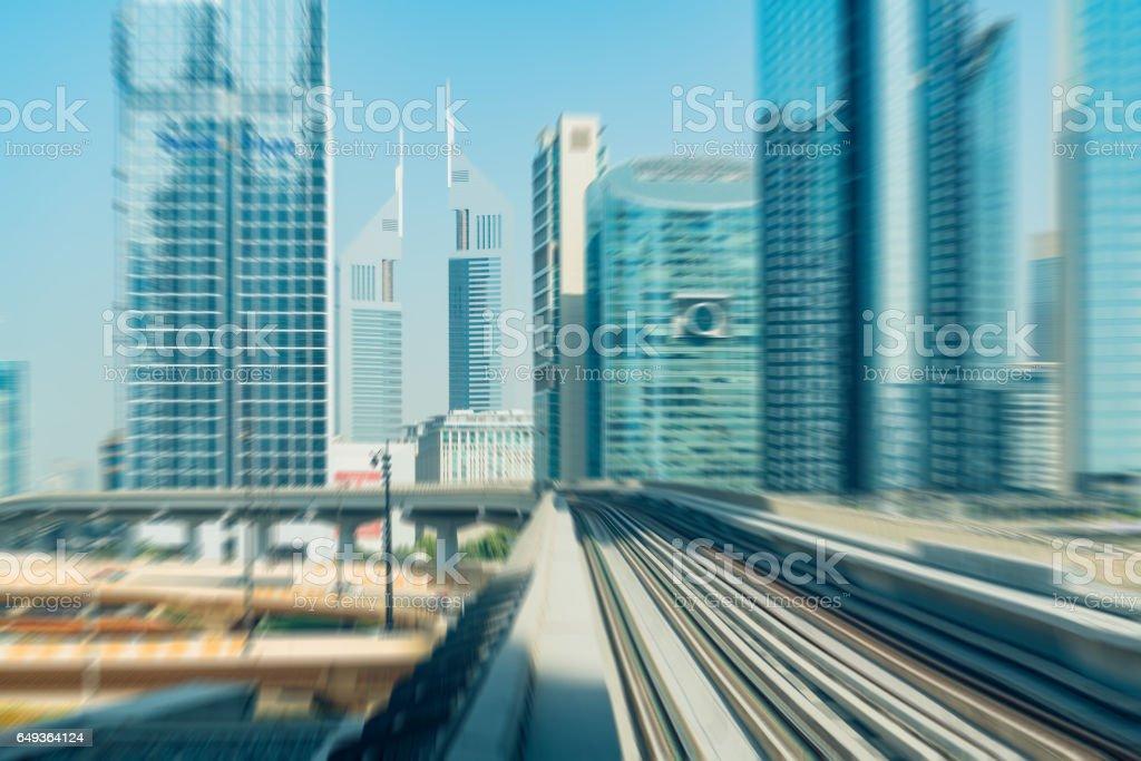 Dubai Metro stock photo