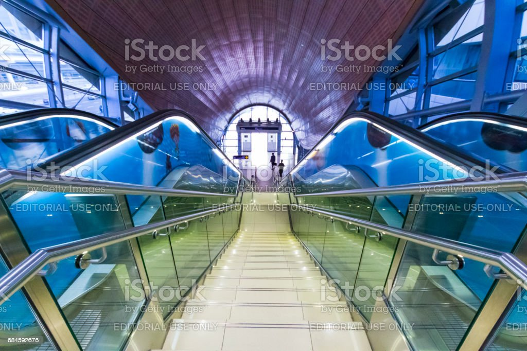 Dubai Metro stock photo