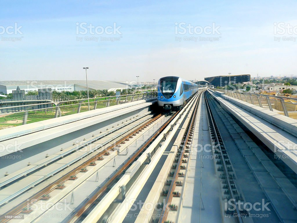Dubai Metro Running stock photo