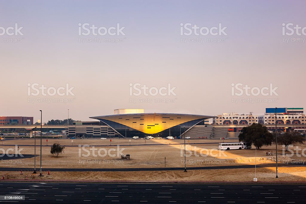 Dubai Metro Station stock photo