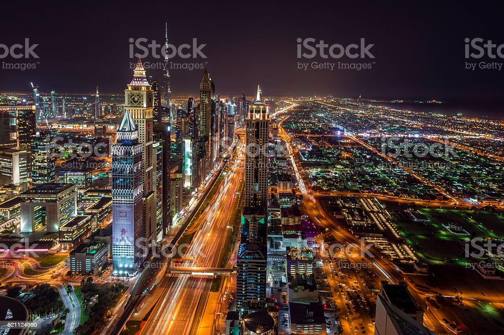 Dubai Night stock photo