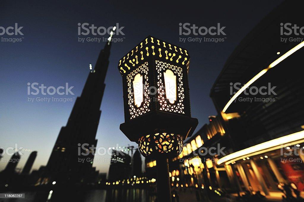 dubai night souk royalty-free stock photo