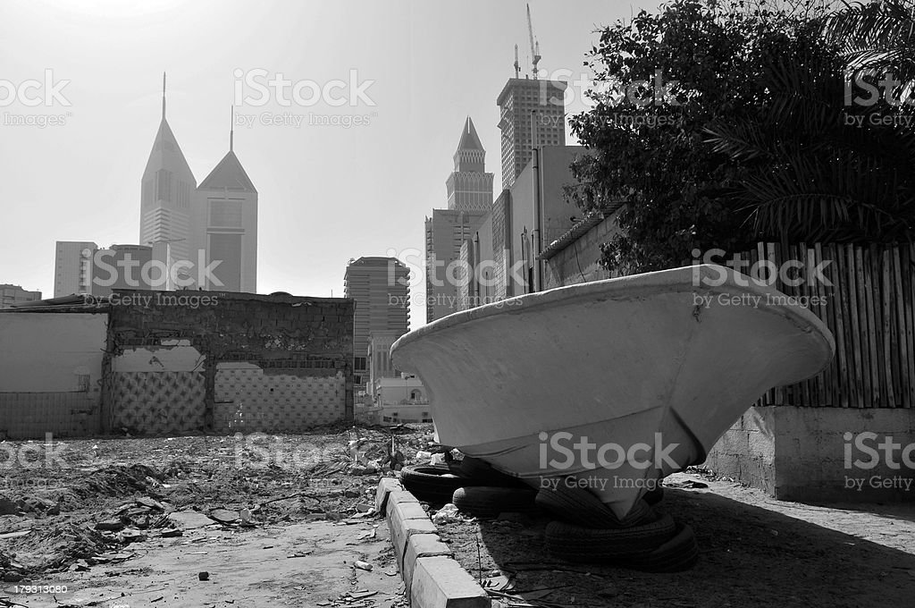 dubai old and new stock photo