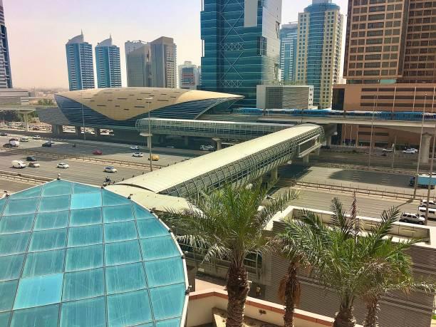 Dubai on a sunny morning. stock photo