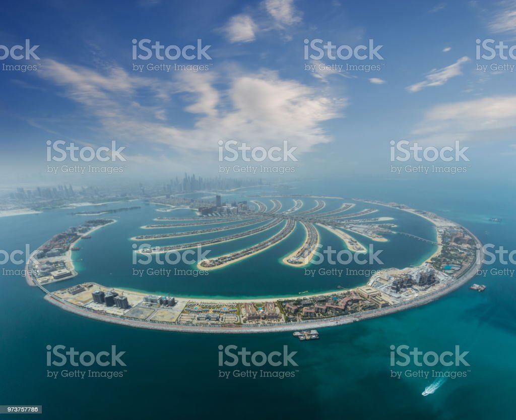 Palm Dubai künstliche Insel von Wasserflugzeug – Foto
