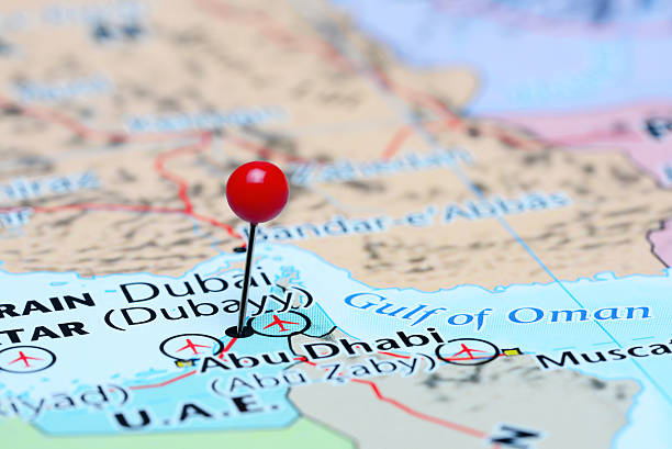 Royalty Free Dubai Map Pictures Images And Stock Photos IStock - Dubai map