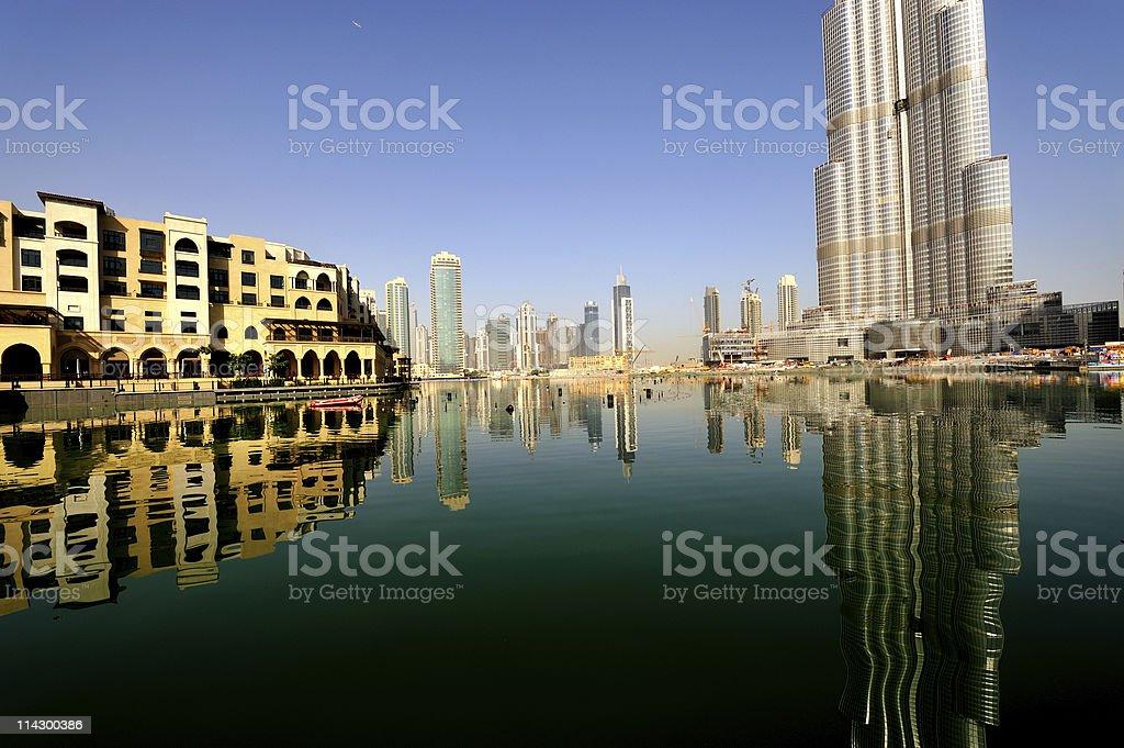 dubai reflection royalty-free stock photo