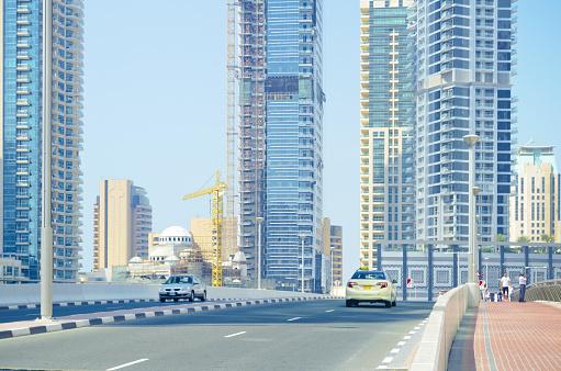 Dubai, residential district. United Arab Emirates.