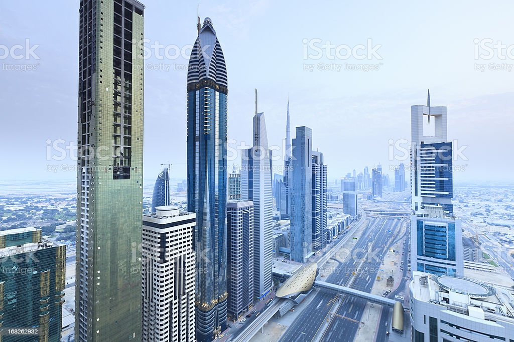 Dubai - Sheik Zayed Road royalty-free stock photo