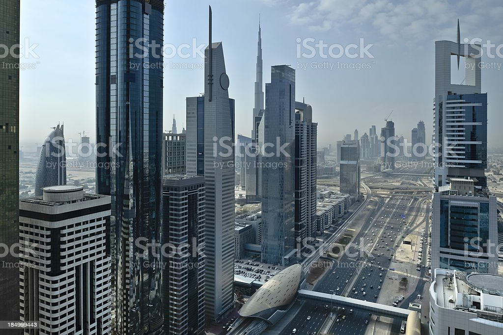 Dubai - Sheikh Zayed Road royalty-free stock photo