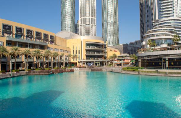 Dubai shopping mall exterior . stock photo