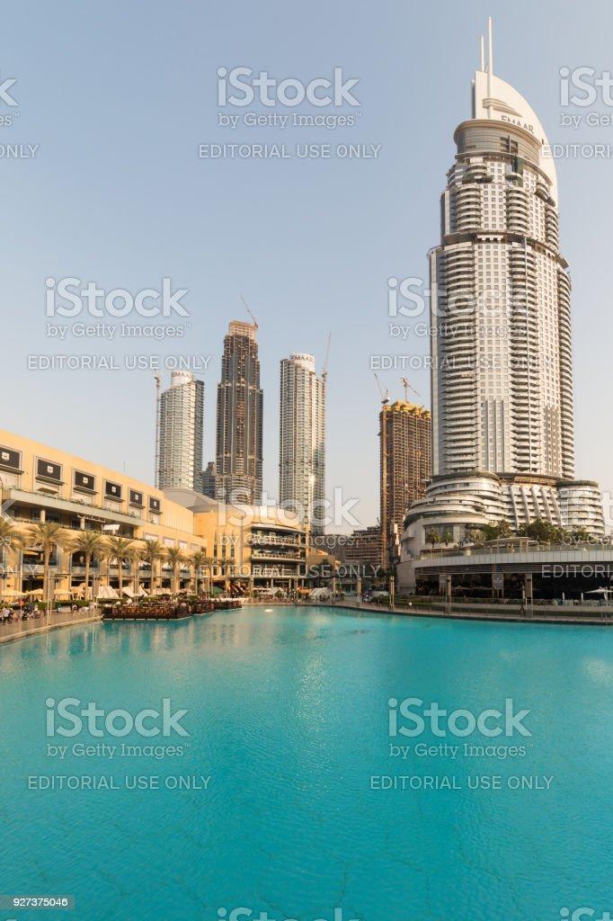 Dubai shopping mall, in Dubai, UAE stock photo